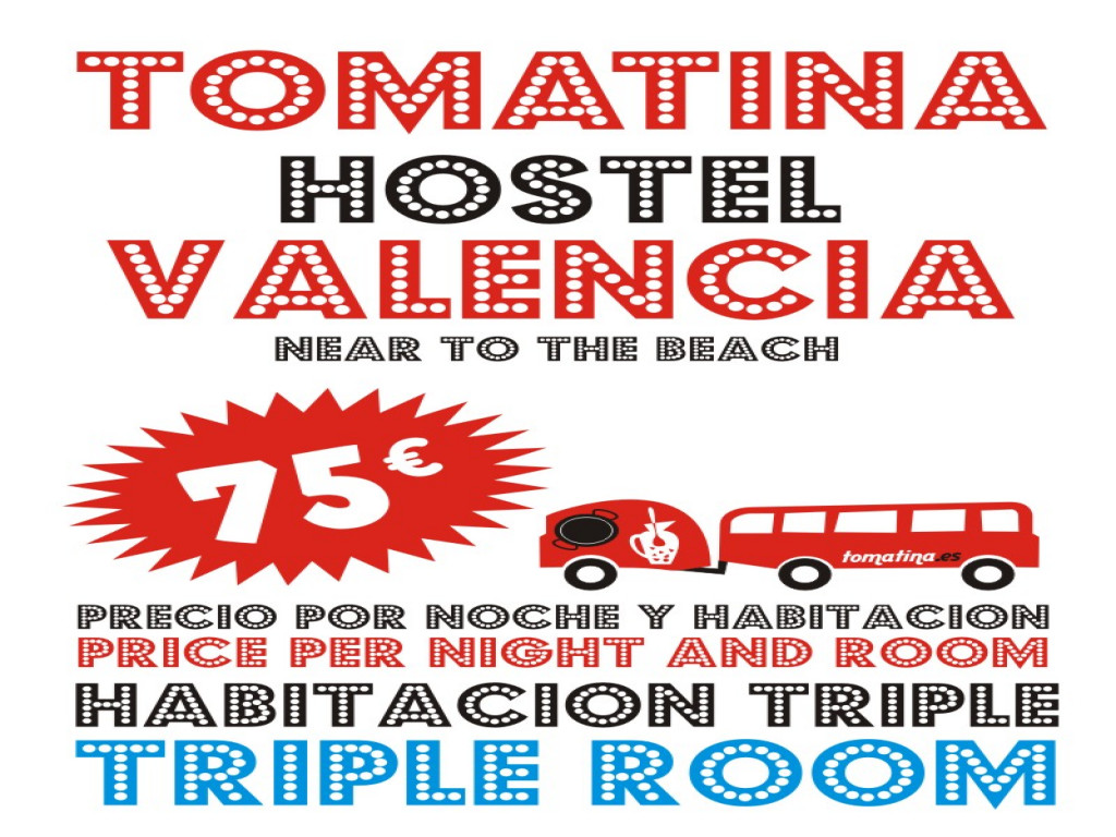 Tomatina Hostel TRIPLE ROOM