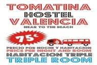 Tomatina Hostel TRIPLE ROOM