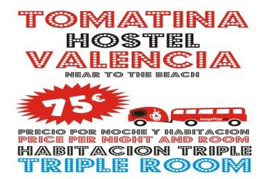<p>Tomatina Hostel HABITACION TRIPLE</p>