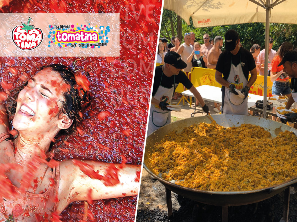 1 DAY TOMATINA TICKETS FROM LA MANGA + PAELLA & SANGRIA